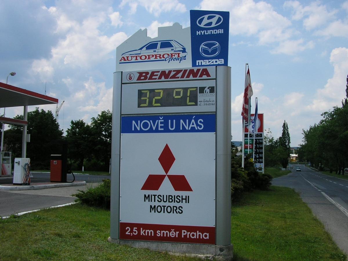 MITSUBISHI - Příbram Brodská ul. / Benzina