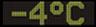 Reklamní plochy - Teploměry - aktuální teplota je -4 stupňů celsia