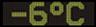 Reklamní plochy - Teploměry - aktuální teplota je -6 stupňů celsia