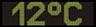 Reklamní plochy - Teploměry - aktuální teplota je 12 stupňů celsia