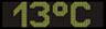 Reklamní plochy - Teploměry - aktuální teplota je 13 stupňů celsia