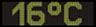 Reklamní plochy - Teploměry - aktuální teplota je 16 stupňů celsia
