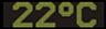 Reklamní plochy - Teploměry - aktuální teplota je 22 stupňů celsia