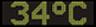 Reklamní plochy - Teploměry - aktuální teplota je 34 stupňů celsia