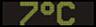 Reklamní plochy - Teploměry - aktuální teplota je 7 stupňů celsia